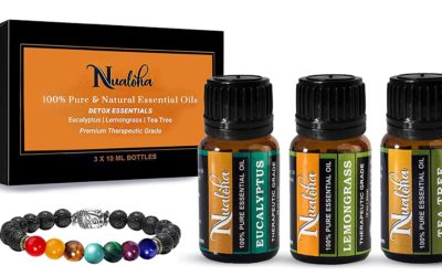 Top 3 Aromatherapy Essential Oils Gift Set -100% Pure Natural Bulgarian Lavender, Sweet Orange, Frankincense Essential Oil Pack (3X10 ML) With 7 Chakra Lava Stone Diffuser Bracelet-Women, Men