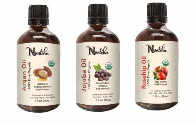 Rosehip, Moroccan Argan, Jojoba Oil Set -Pack Of Top 3 Organic Carrier Massage Oils