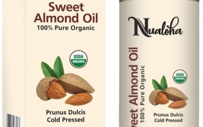 Organic Sweet Almond Oil – 100% Pure, Natural Anti-Aging Moisturizer Treatment for Face, Hair, Skin & Nails- Best Carrier Oil & Massage Oil, 220 ML – Men, Women